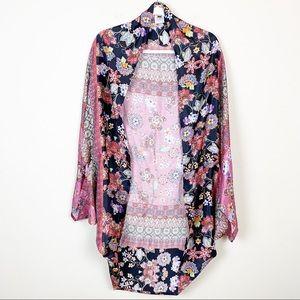 Kachel X Anthropologie Floral Paisley Silk Kimono